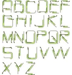 detailed tech alphabet vector image vector image
