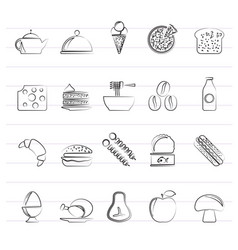 different king of food and drinks icons 2 vector image vector image