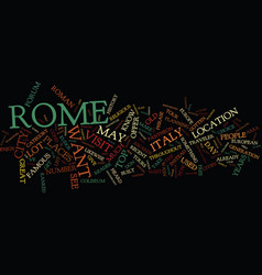 For the love of italy text background word cloud vector