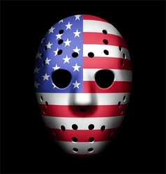 Goalie Mask USA vector image vector image