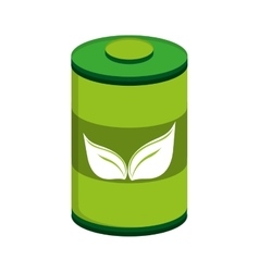 green battery leaf leaves vector image