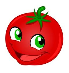 Happy tomato vector