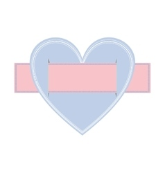 heart crossed with label paper vector image vector image