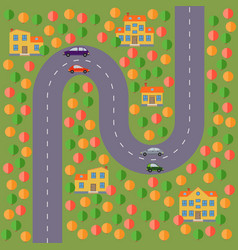 landscape with the road vector image vector image