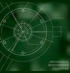 Mechanical engineering drawings engineering green vector