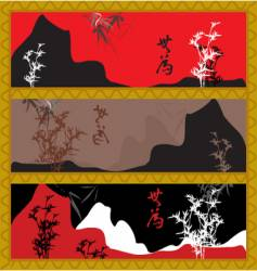 oriental style scenery vector image vector image