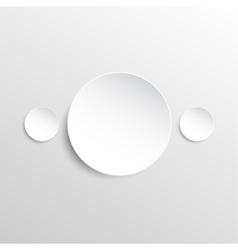 Paper banner design mockup circle vector