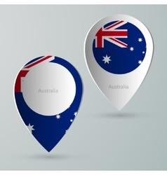 Paper of map marker for maps australia vector