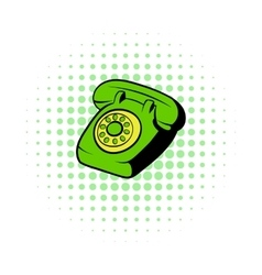 Phone comics icon vector image vector image