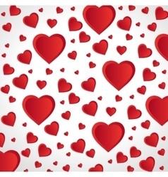 Red hearts love seamless pattern design vector