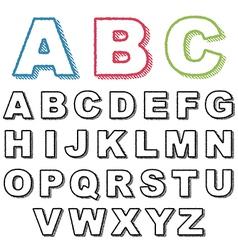 Retro alphabet vector
