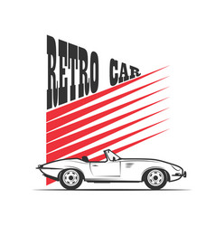 retro car in vintage style vector image vector image