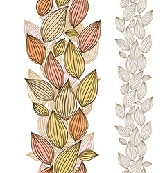 Seamless floral wallpaper hand drawn vector image vector image