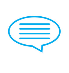 Speech bubble icon on white background speech vector