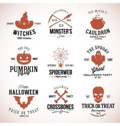Vintage typography halloween badges or logos vector