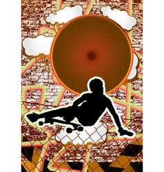 vintage urban grunge longboard vector image vector image