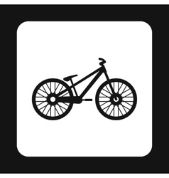 Bike icon in simple style vector