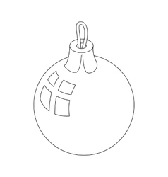 Christmas ball icon outline style vector