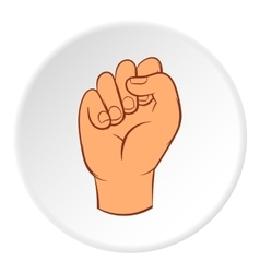 Clenched fist icon cartoon style vector