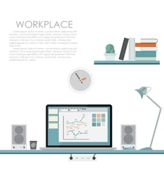 Modern workplace  flat vector