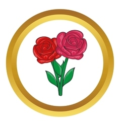 Flowers on grave icon vector