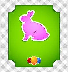 Easter card with colorful rabbit and eggs vector