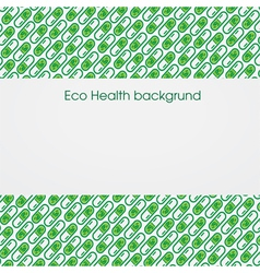 Health eco background vector