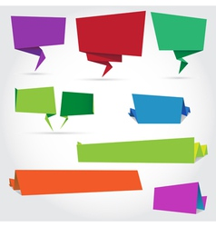 Origami speech bubbles and banners vector
