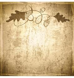 Vintage Acorn Grunge Background vector image
