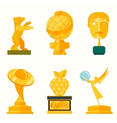 Lady statue trophy on white vector