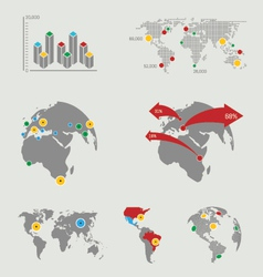 atlas map infographics vector image