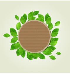 Round cardboard label vector