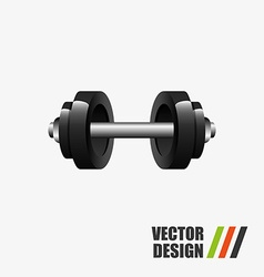 Gym time design vector