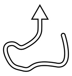 Curve direction stroke icon vector