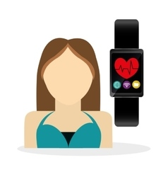 Wearable technology design social media icon vector