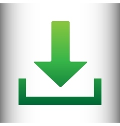 Download sign green gradient icon vector