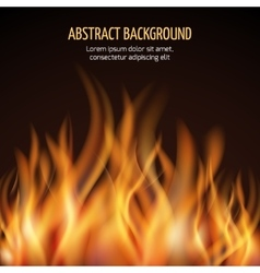 Abstract fire flame background vector