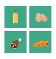 Icon set over frames healthy food design vector