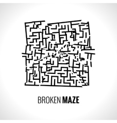 Broken maze template vector image