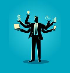 Business concept for multitasking vector