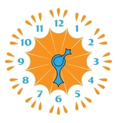 Colored clocks with arrows vector image vector image