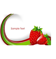 creative background with strawberry vector image