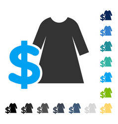 Dress price icon vector