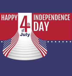 happy independence day 4th of july star stripe vector image