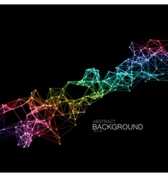 Iridescent Plexus Lines And Particles Background vector image