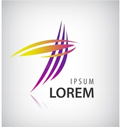 Logo design template abstract colorful vector