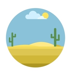Mexican desert background vector image vector image