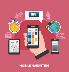 mobile marketing composition vector image vector image