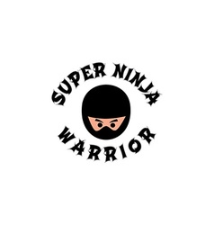 ninja boy cartoon vector image