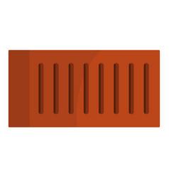 orange brick icon isolated vector image vector image